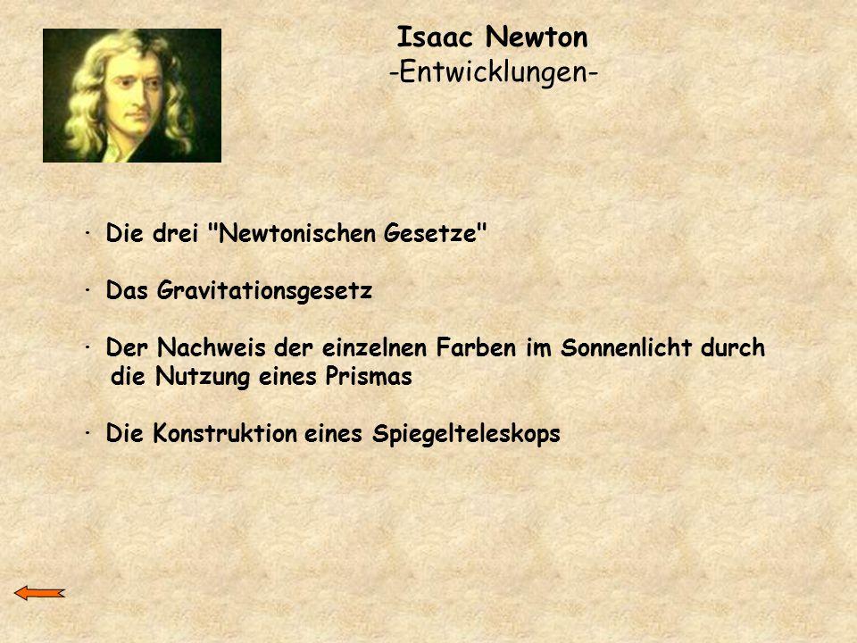 Isaac Newton -Entwicklungen-