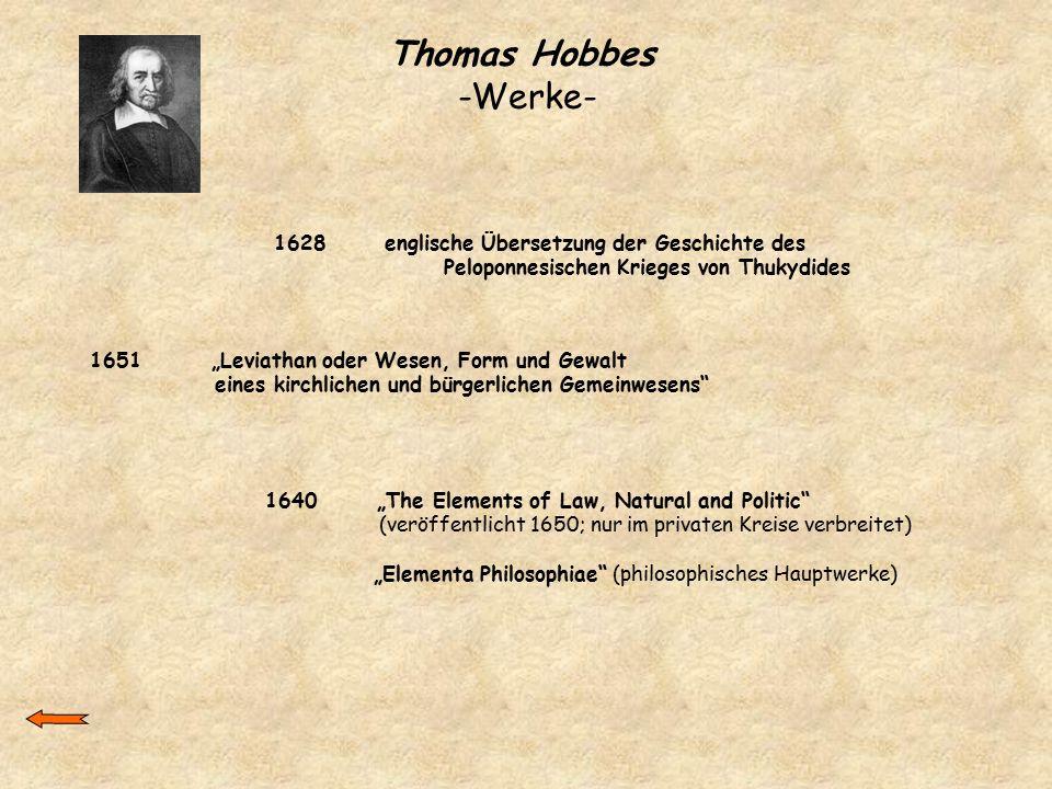 Thomas Hobbes -Werke- 1628 englische Übersetzung der Geschichte des