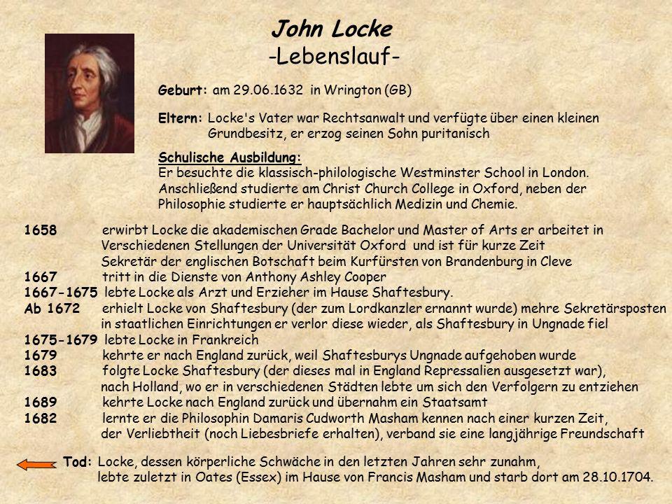 John Locke -Lebenslauf-