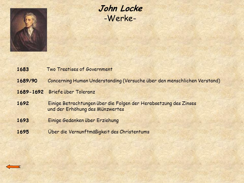 John Locke -Werke Two Treatises of Government