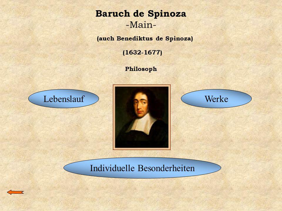 Baruch de Spinoza -Main-