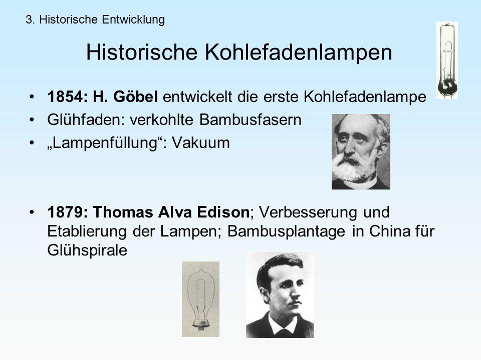 Historische Kohlefadenlampen