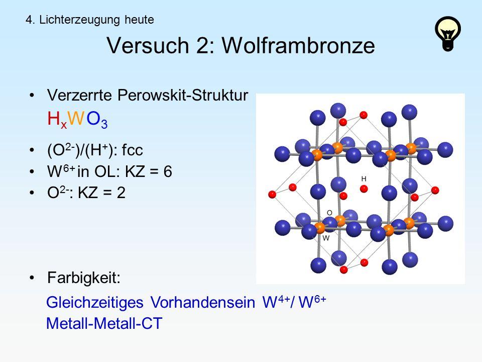 Versuch 2: Wolframbronze