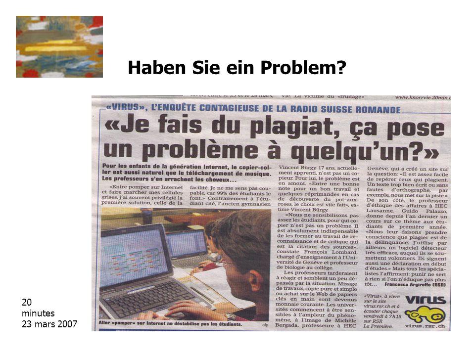 Haben Sie ein Problem 20 minutes 23 mars 2007