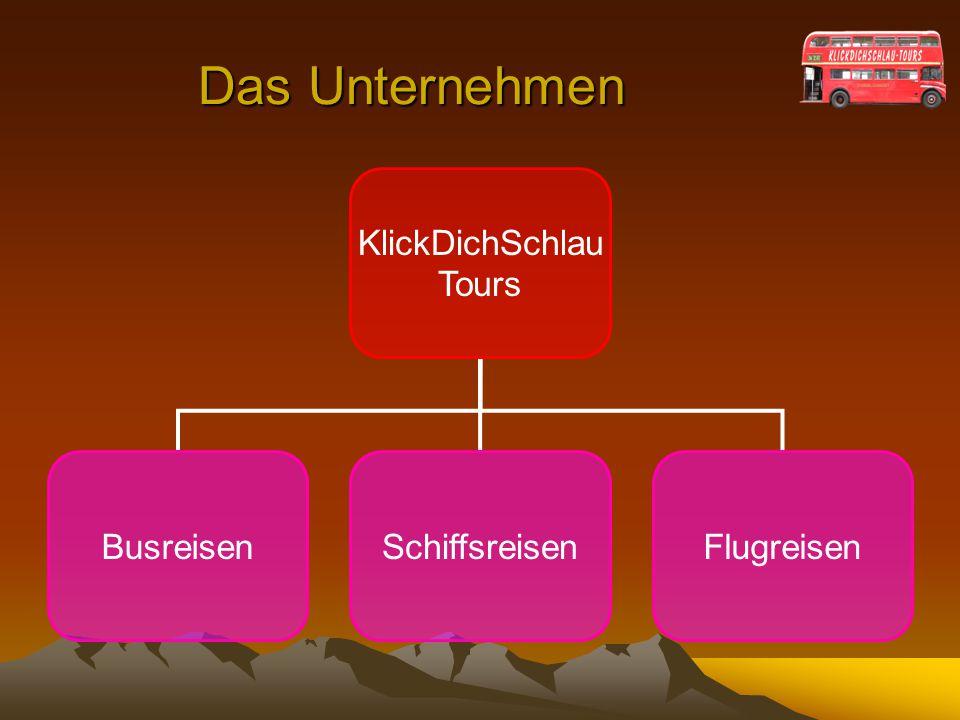 Das Unternehmen KlickDichSchlau Tours Busreisen Schiffsreisen