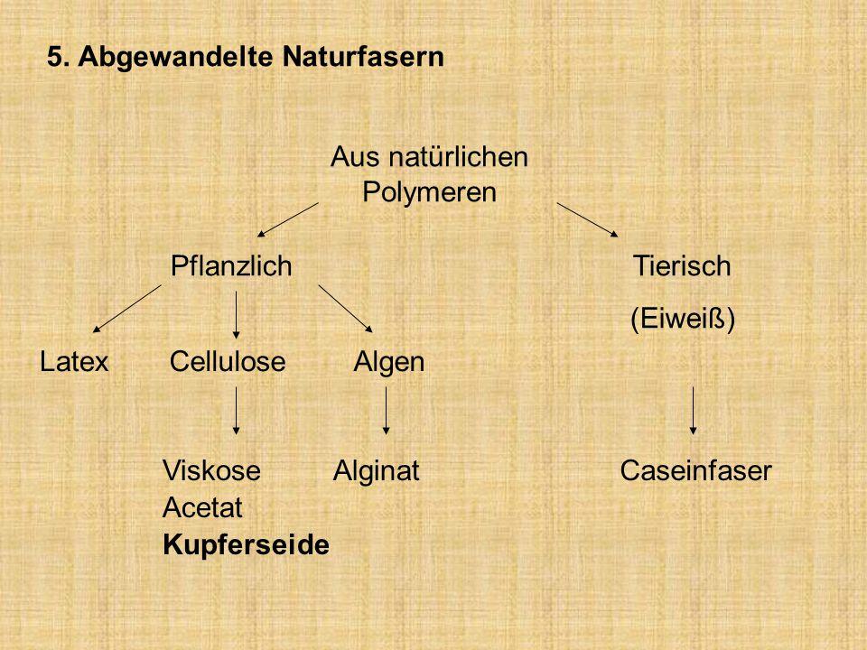 5. Abgewandelte Naturfasern