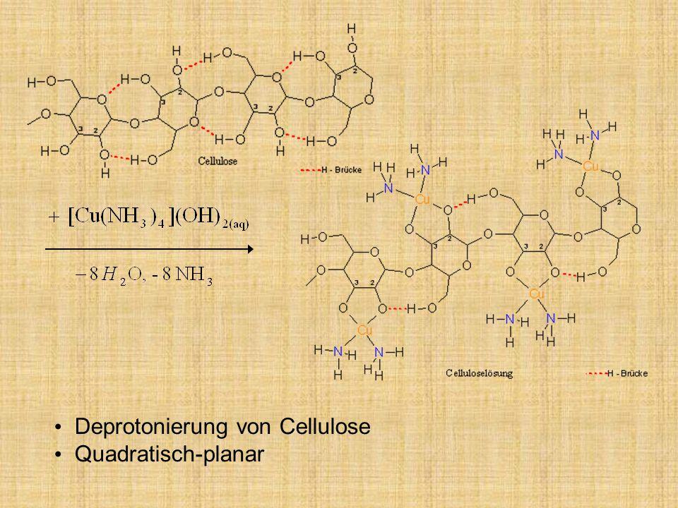 Deprotonierung von Cellulose
