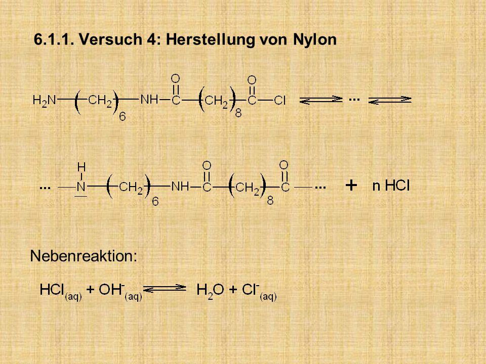 6.1.1. Versuch 4: Herstellung von Nylon