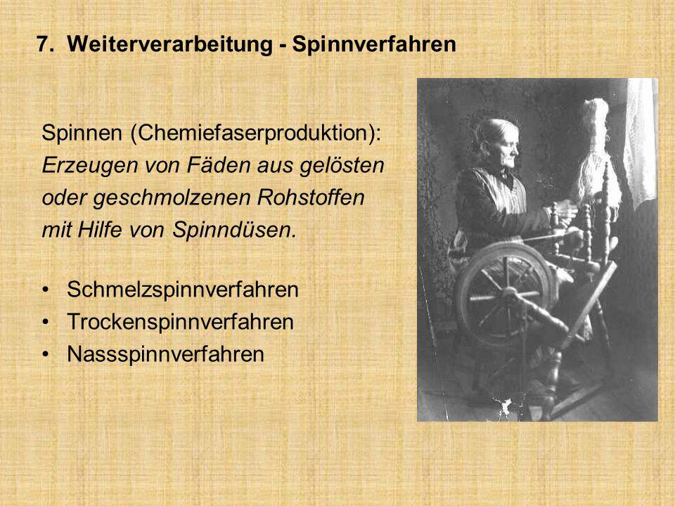 7. Weiterverarbeitung - Spinnverfahren