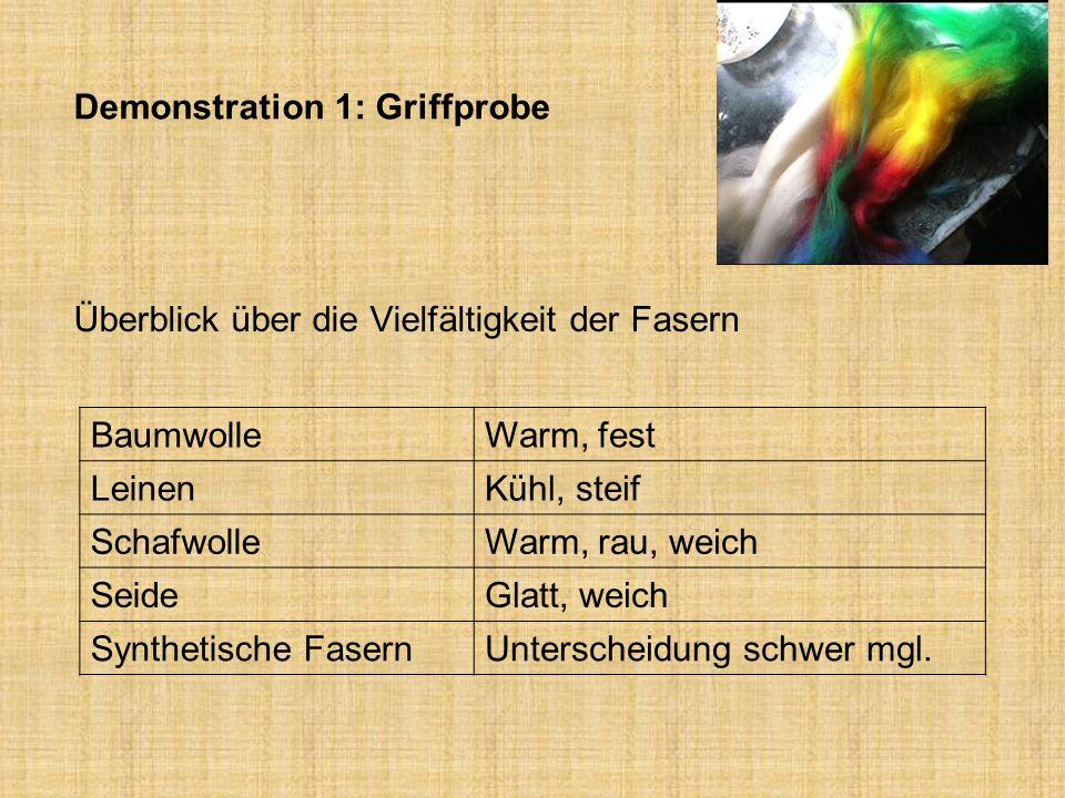Demonstration 1: Griffprobe