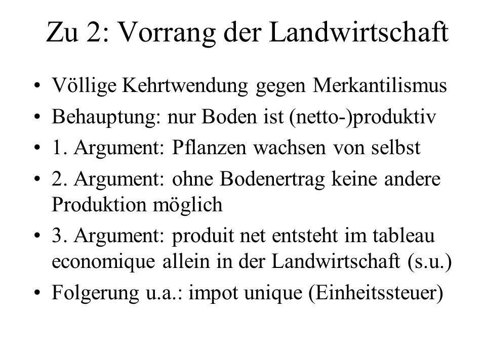 Zu 2: Vorrang der Landwirtschaft