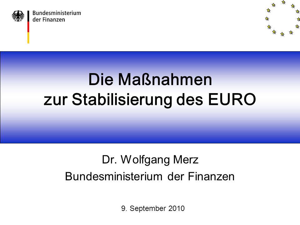 Die Maßnahmen zur Stabilisierung des EURO