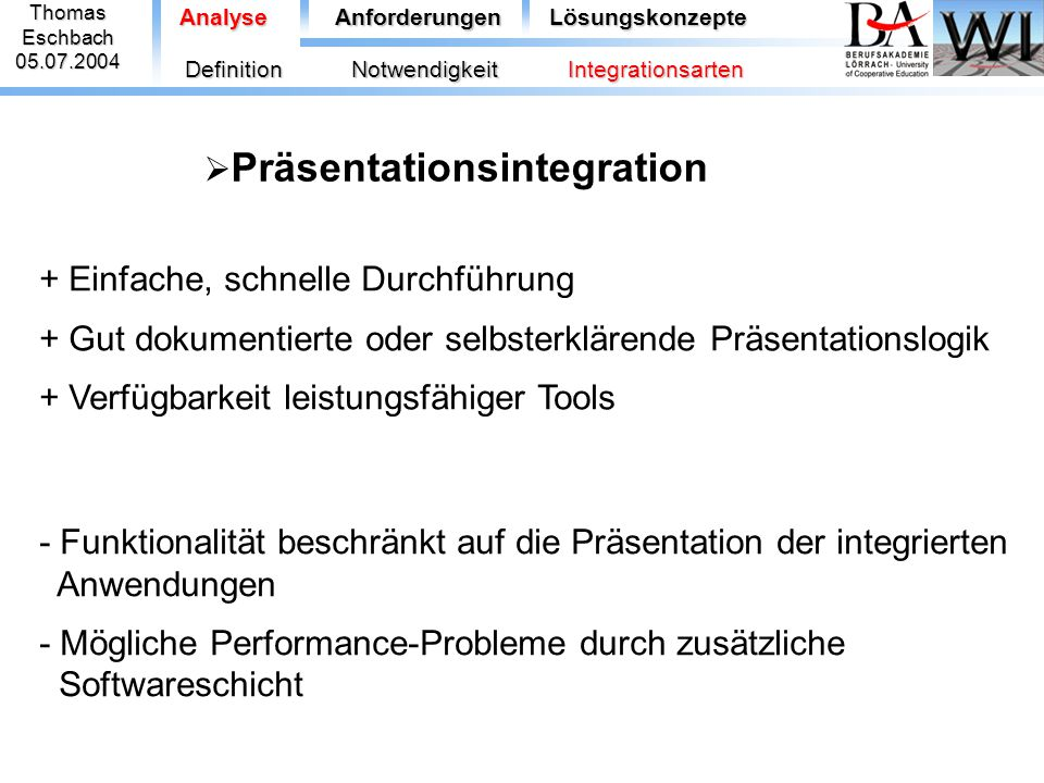 Präsentationsintegration