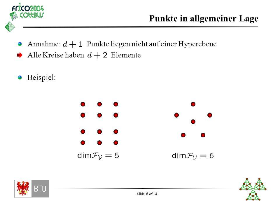Für ungerade Dimension gilt: (Hochstättler, Nešetřil 2003)