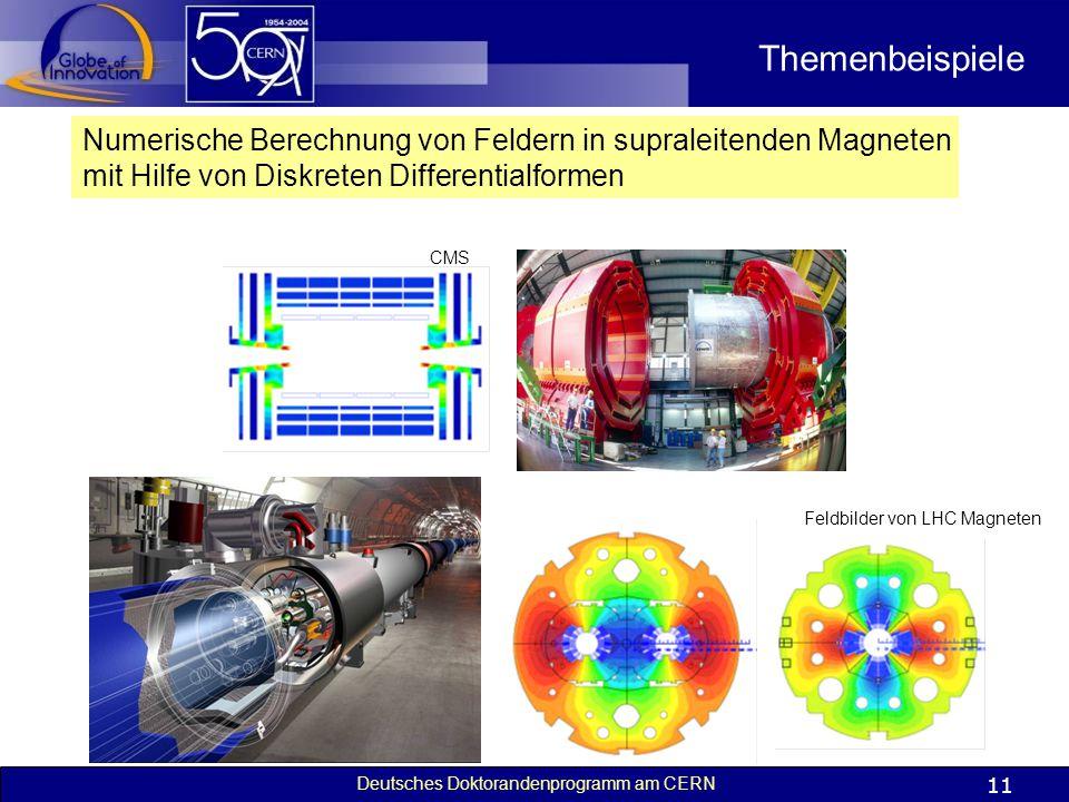 Themenbeispiele Numerische Berechnung von Feldern in supraleitenden Magneten. mit Hilfe von Diskreten Differentialformen.