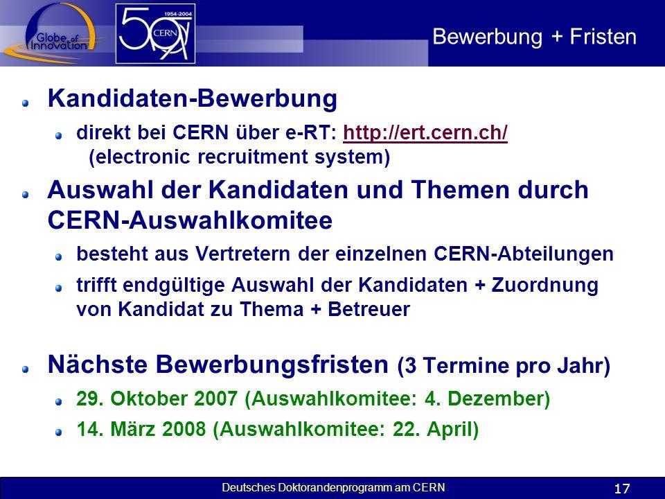 Kandidaten-Bewerbung