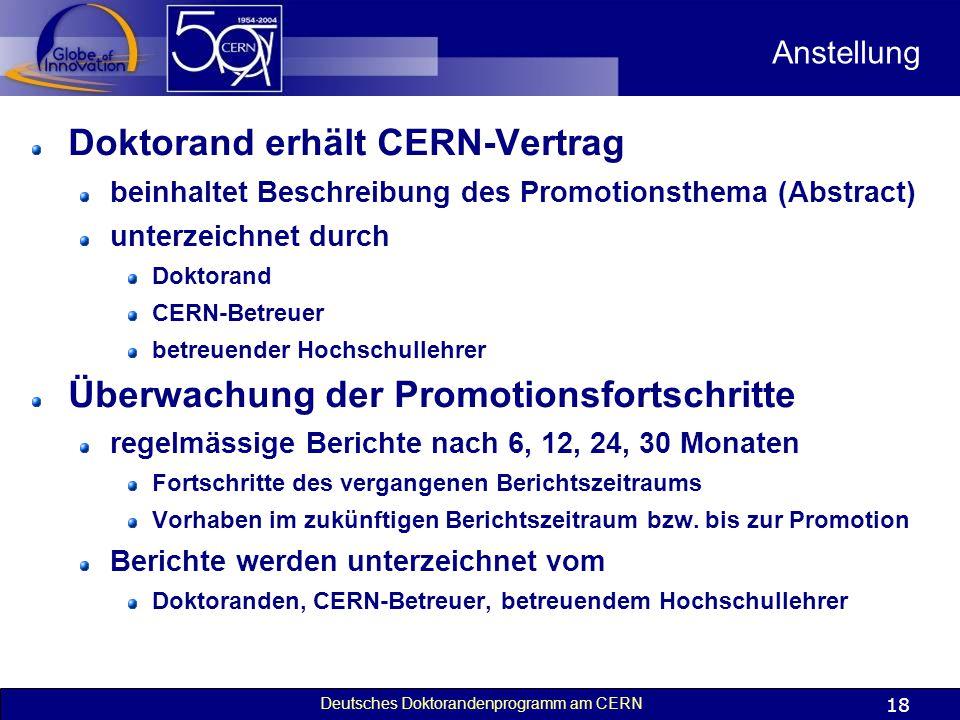 Doktorand erhält CERN-Vertrag