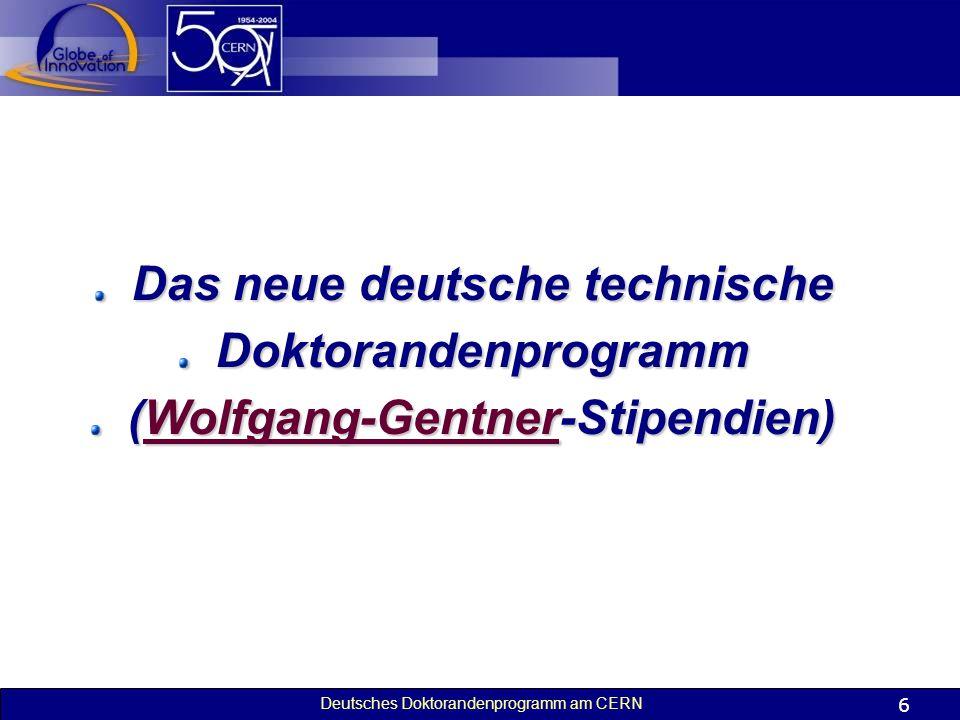 Das neue deutsche technische (Wolfgang-Gentner-Stipendien)