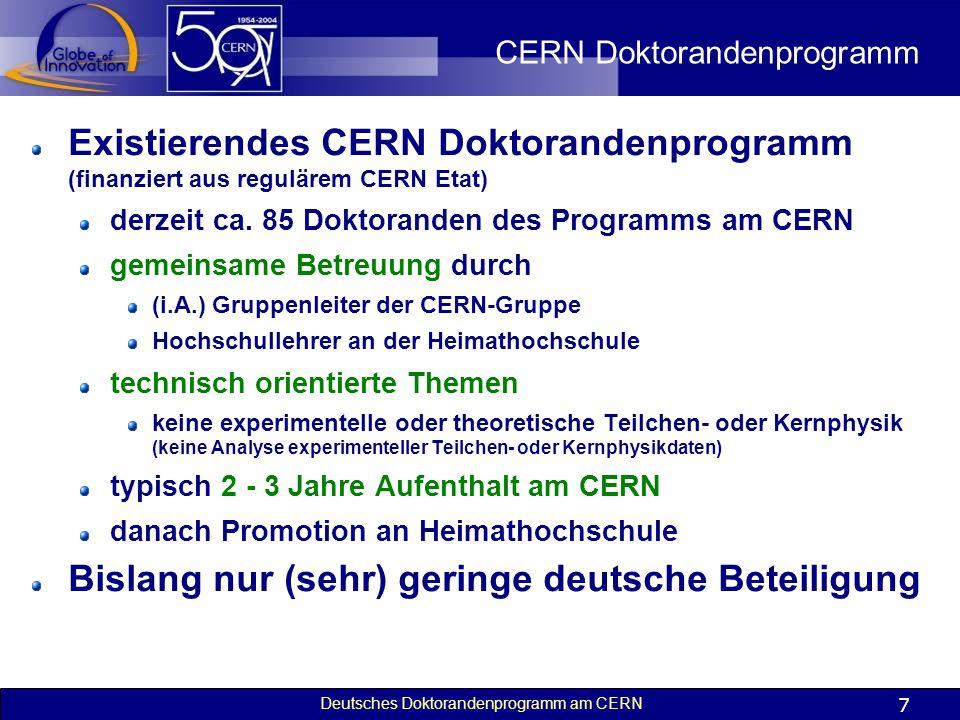 CERN Doktorandenprogramm