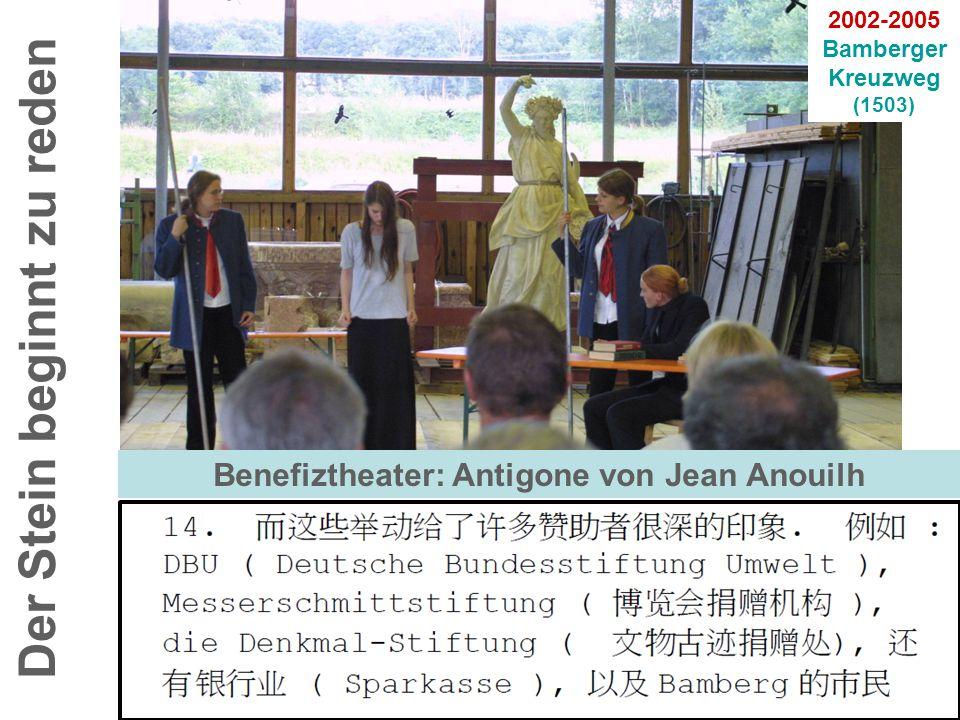 Der Stein beginnt zu reden Benefiztheater: Antigone von Jean Anouilh