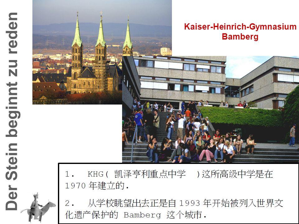 Kaiser-Heinrich-Gymnasium Der Stein beginnt zu reden