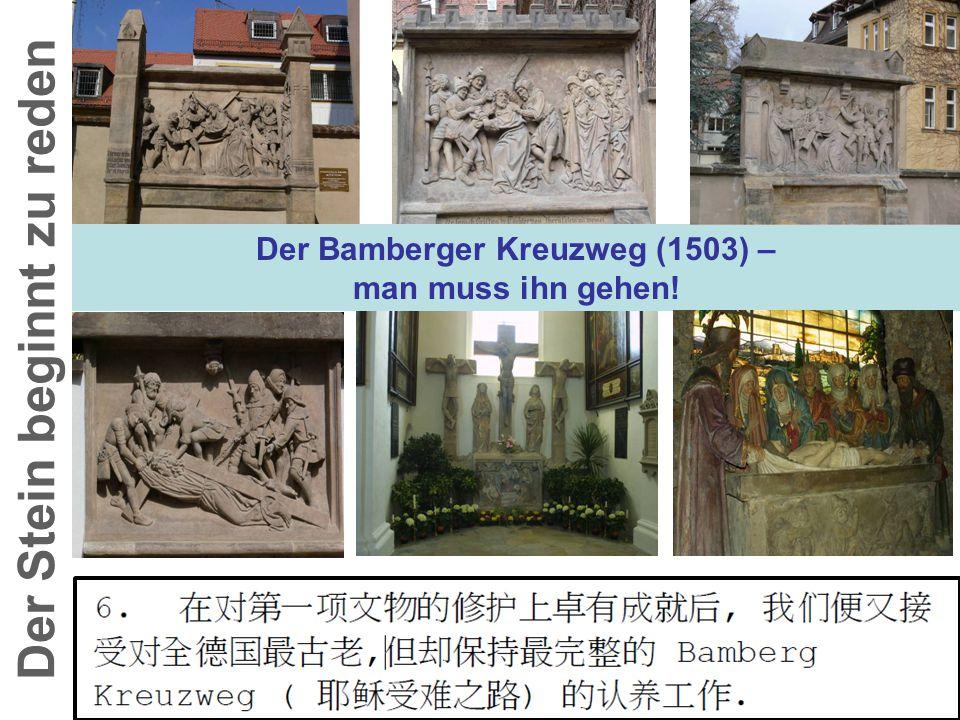 Der Bamberger Kreuzweg (1503) – Der Stein beginnt zu reden