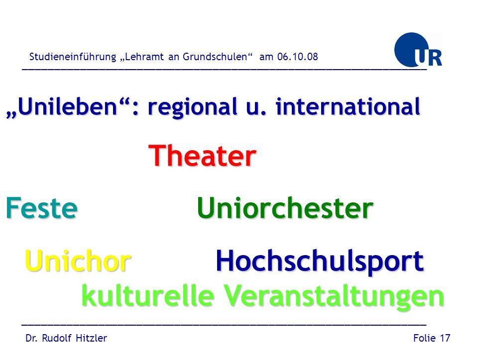 Unichor Hochschulsport kulturelle Veranstaltungen