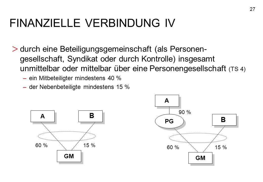 FINANZIELLE VERBINDUNG IV