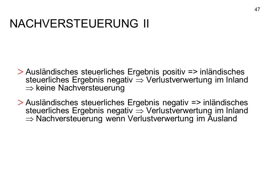 NACHVERSTEUERUNG II