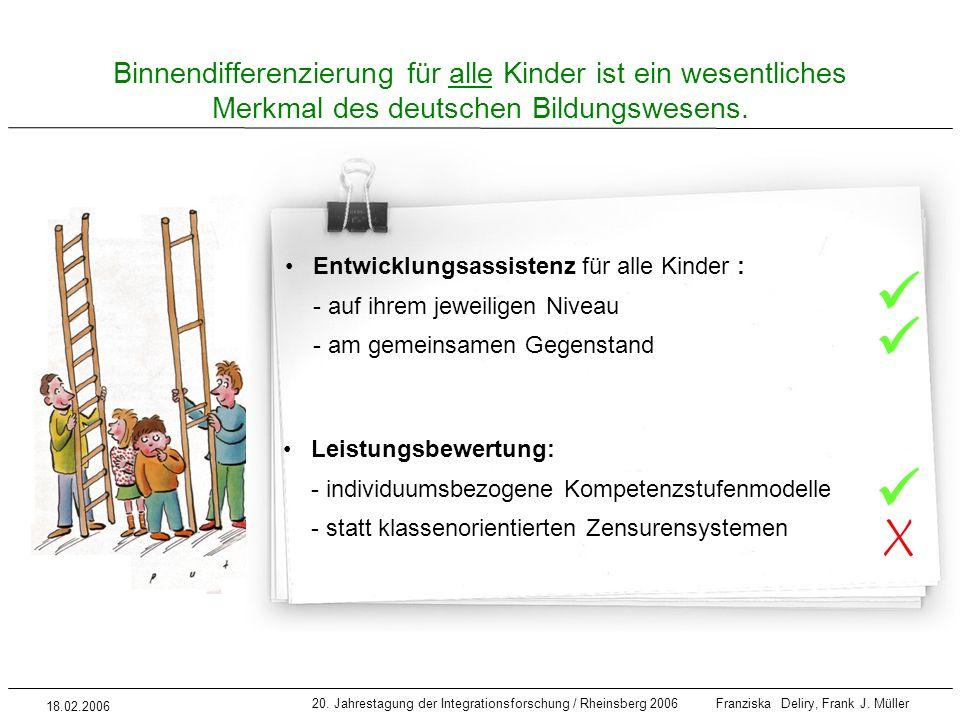 Binnendifferenzierung für alle Kinder ist ein wesentliches Merkmal des deutschen Bildungswesens.