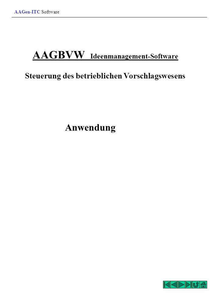 AAGen-ITC Software AAGBVW Ideenmanagement-Software Steuerung des betrieblichen Vorschlagswesens.