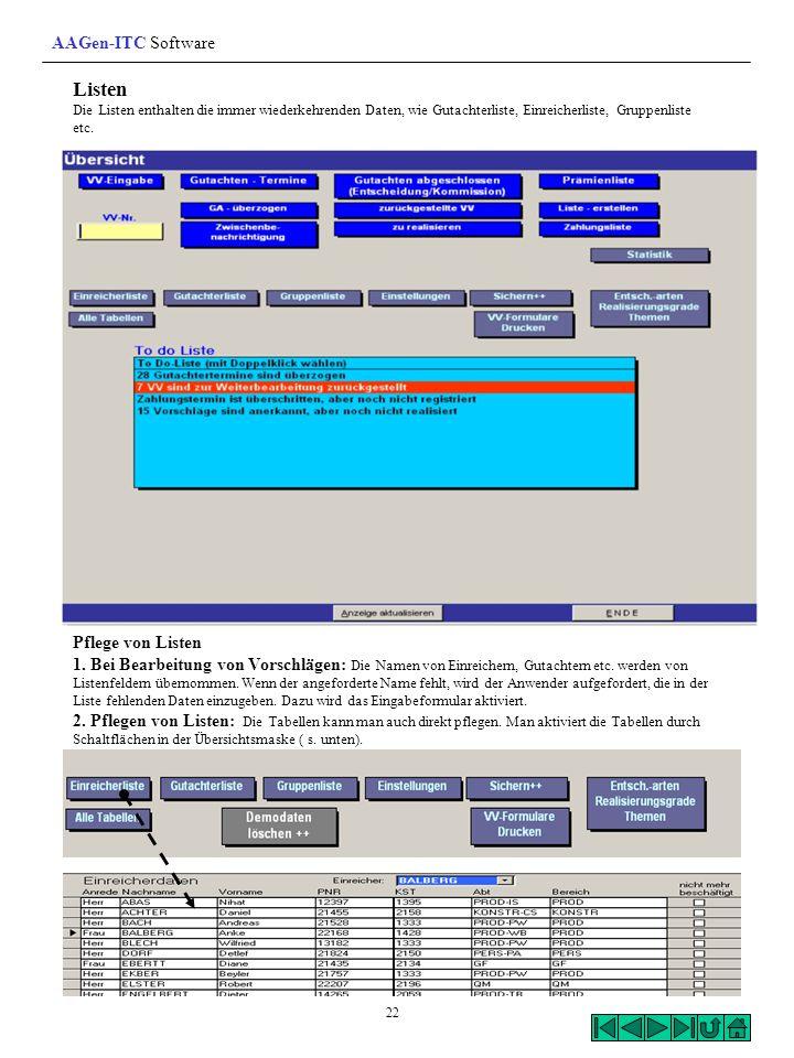 Listen AAGen-ITC Software