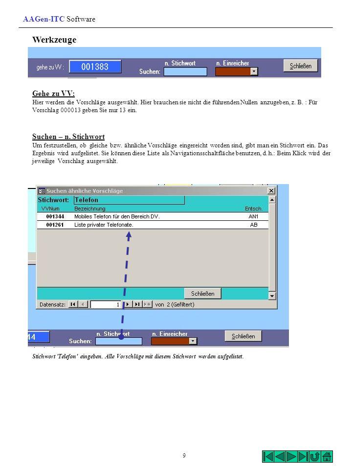 Werkzeuge AAGen-ITC Software