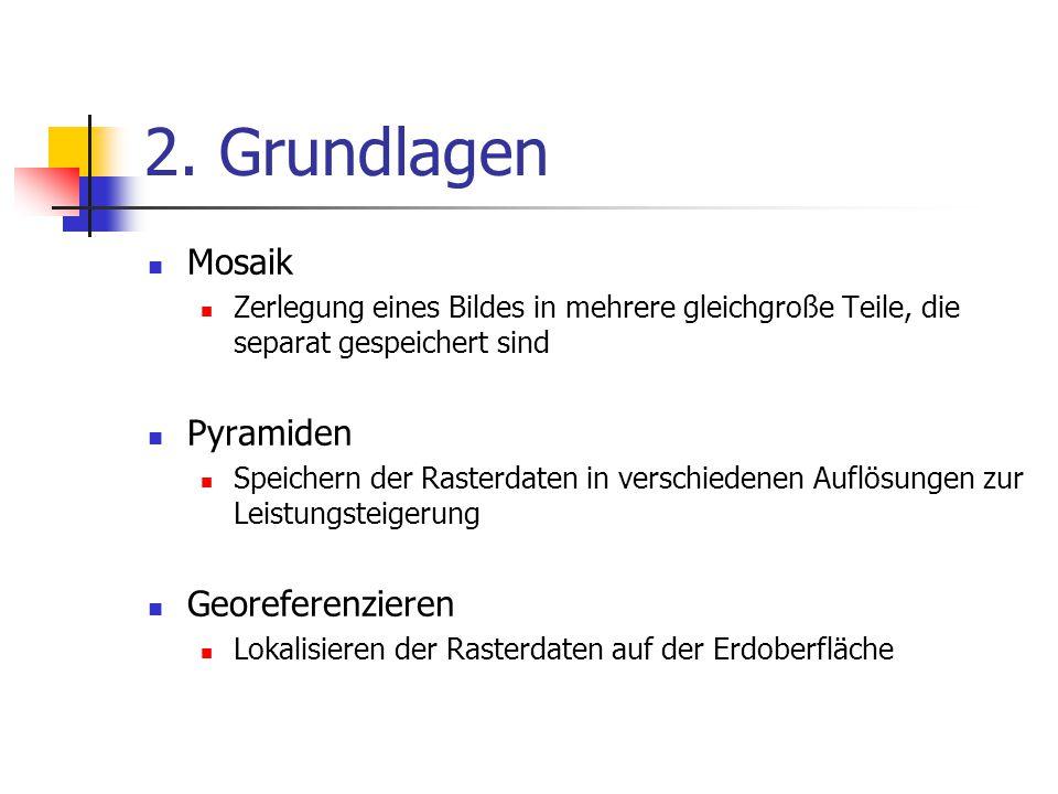 2. Grundlagen Mosaik Pyramiden Georeferenzieren