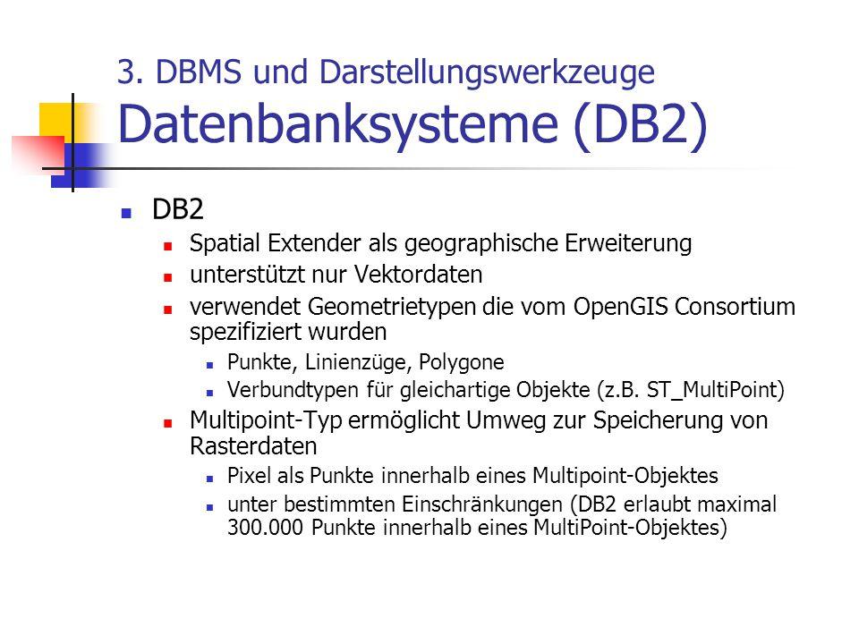 3. DBMS und Darstellungswerkzeuge Datenbanksysteme (DB2)
