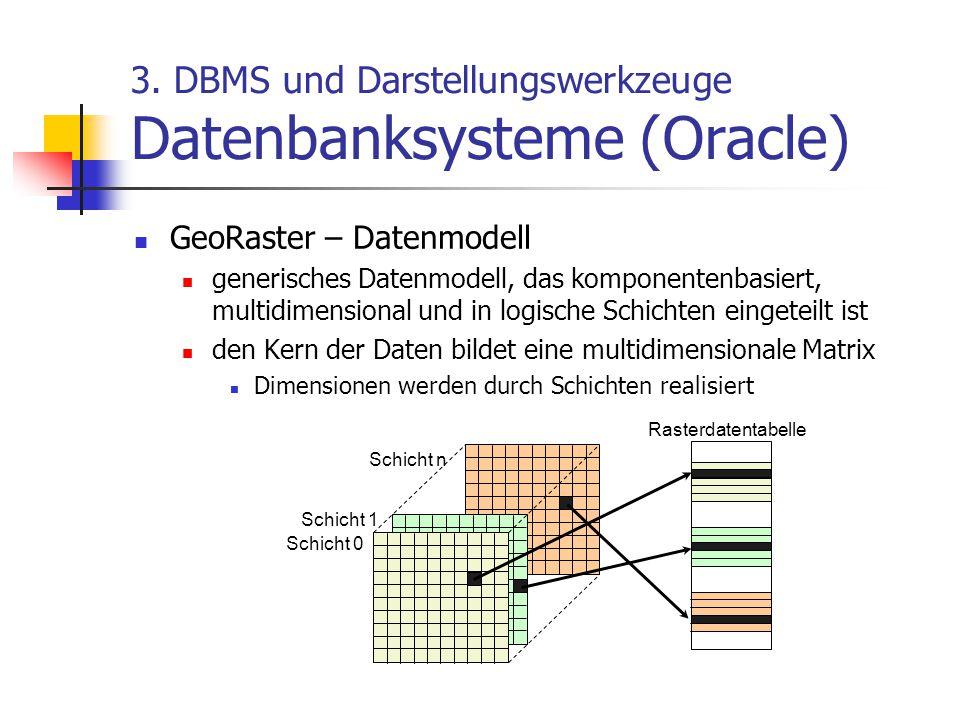 3. DBMS und Darstellungswerkzeuge Datenbanksysteme (Oracle)