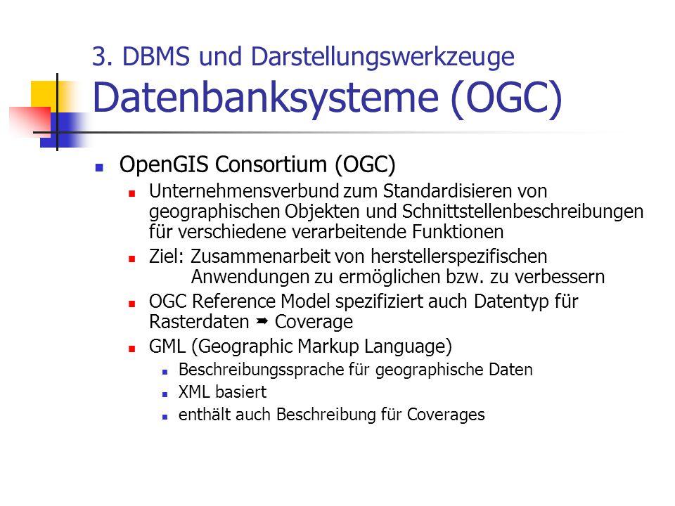 3. DBMS und Darstellungswerkzeuge Datenbanksysteme (OGC)