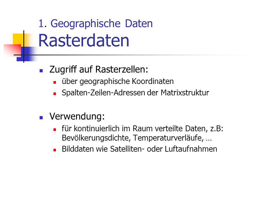 1. Geographische Daten Rasterdaten