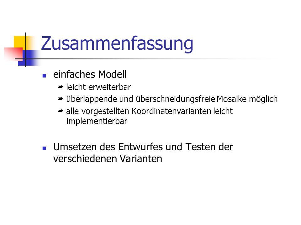 Zusammenfassung einfaches Modell