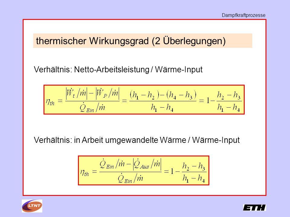 thermischer Wirkungsgrad (2 Überlegungen)