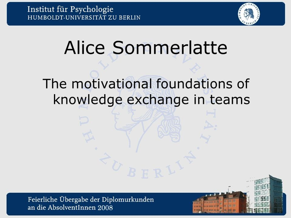 The motivational foundations of knowledge exchange in teams