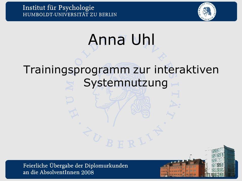 Trainingsprogramm zur interaktiven Systemnutzung
