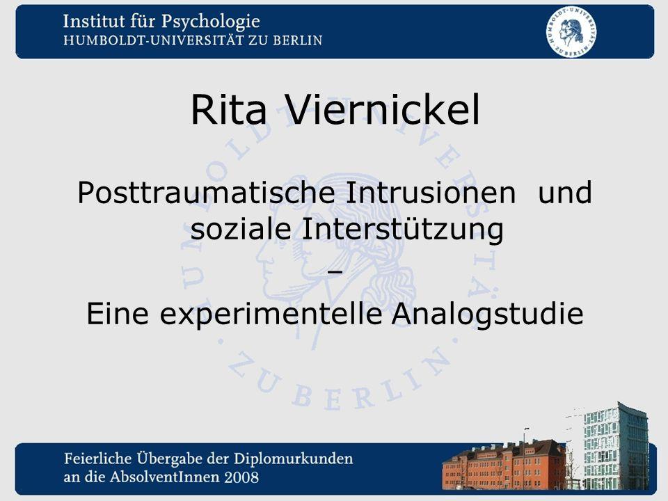 Rita Viernickel Posttraumatische Intrusionen und soziale Interstützung