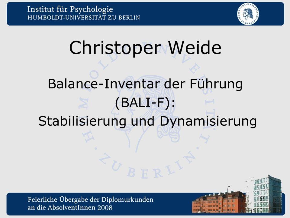 Christoper Weide Balance-Inventar der Führung (BALI-F):