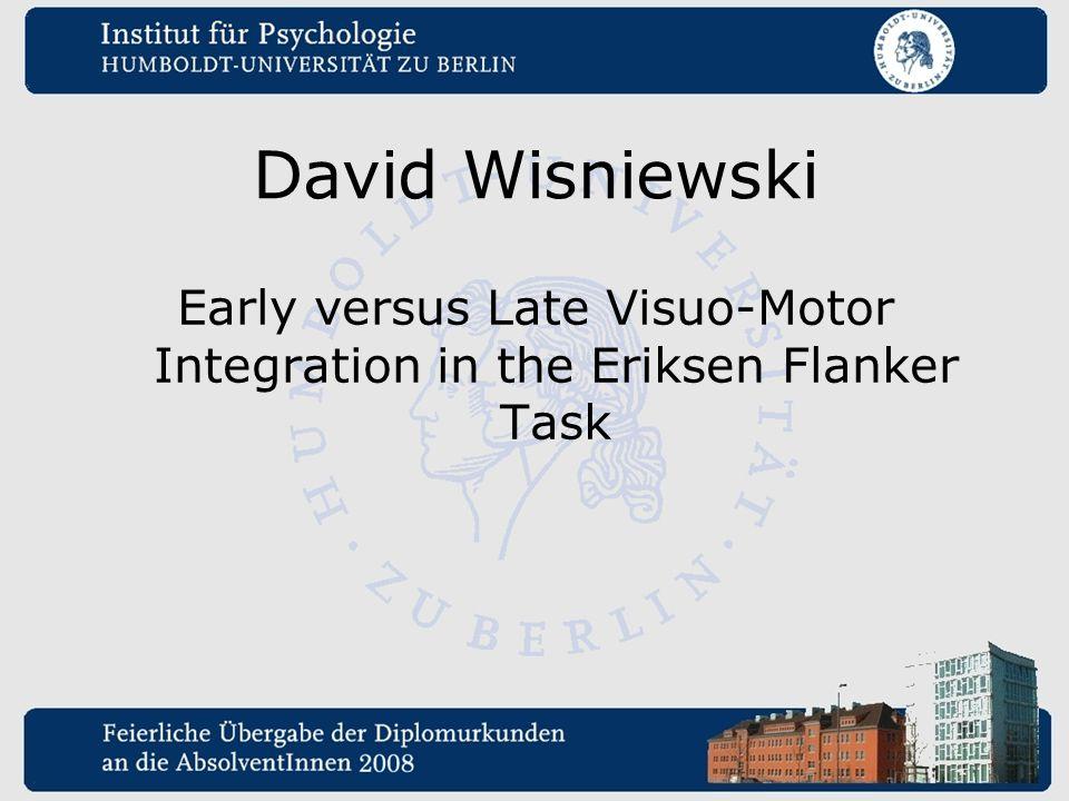 Early versus Late Visuo-Motor Integration in the Eriksen Flanker Task