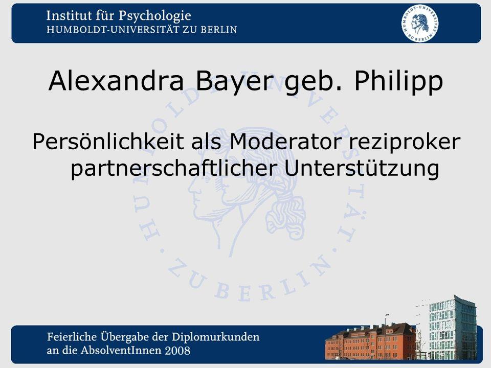 Alexandra Bayer geb. Philipp
