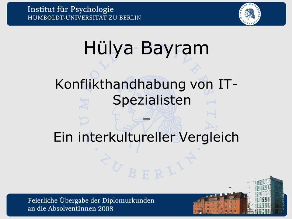 Hülya Bayram Konflikthandhabung von IT-Spezialisten –