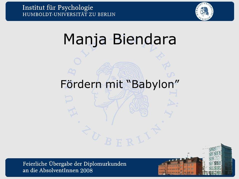 Manja Biendara Fördern mit Babylon