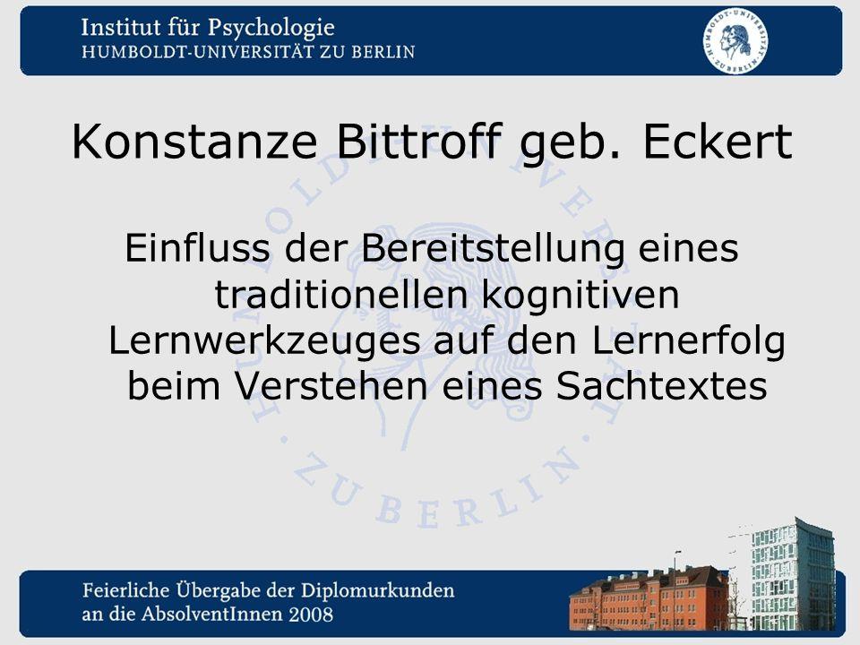 Konstanze Bittroff geb. Eckert
