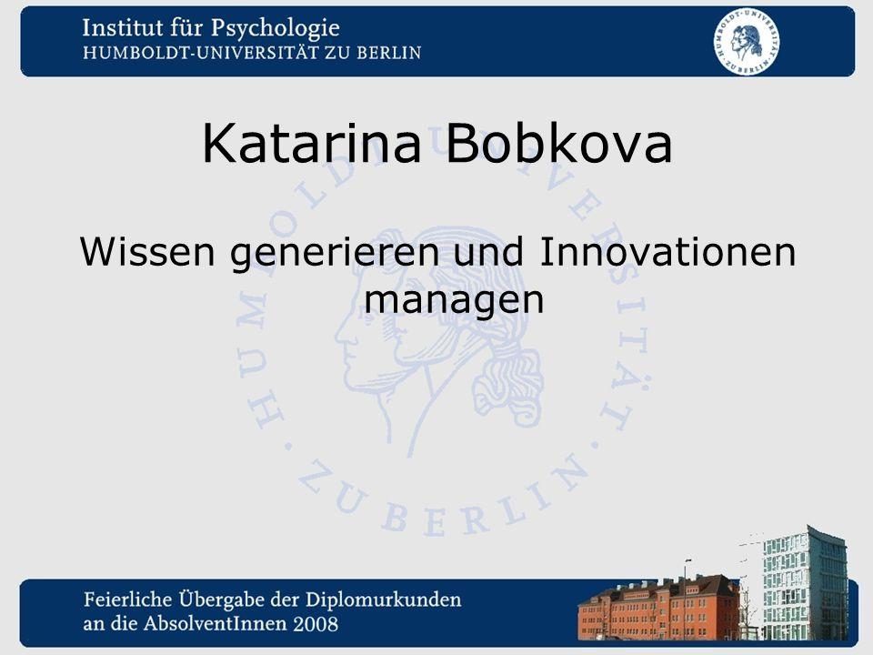 Wissen generieren und Innovationen managen